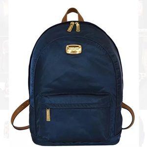 NWT Michael kors nylon blue backpack silver